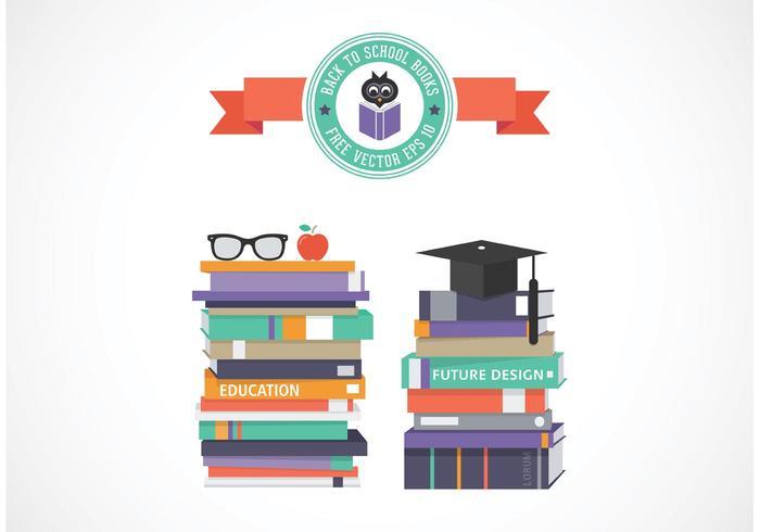 Pilha vetorial livre de livros escolares vetor