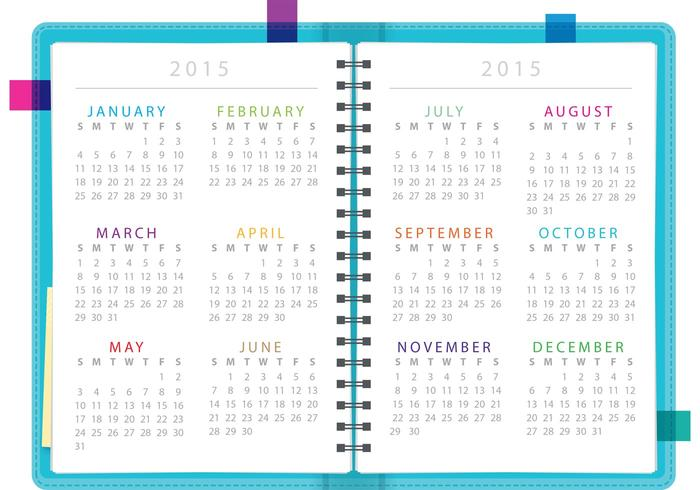 Vetor de notebook planejador diário