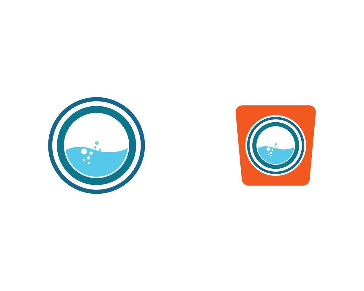 conjunto de ícones de lavanderia moderna vetor