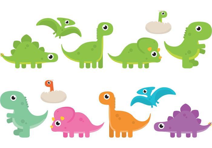 Vetores de dinossauro de desenho animado