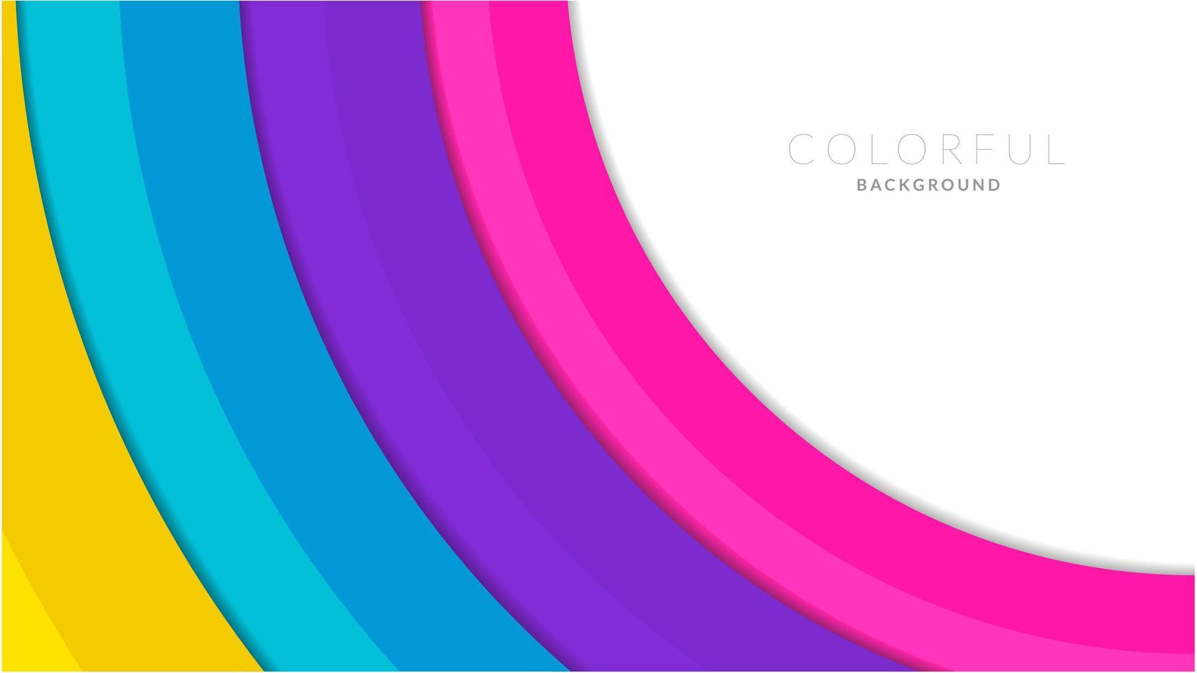 corte de papel moderno colorido fundo em camadas vetor