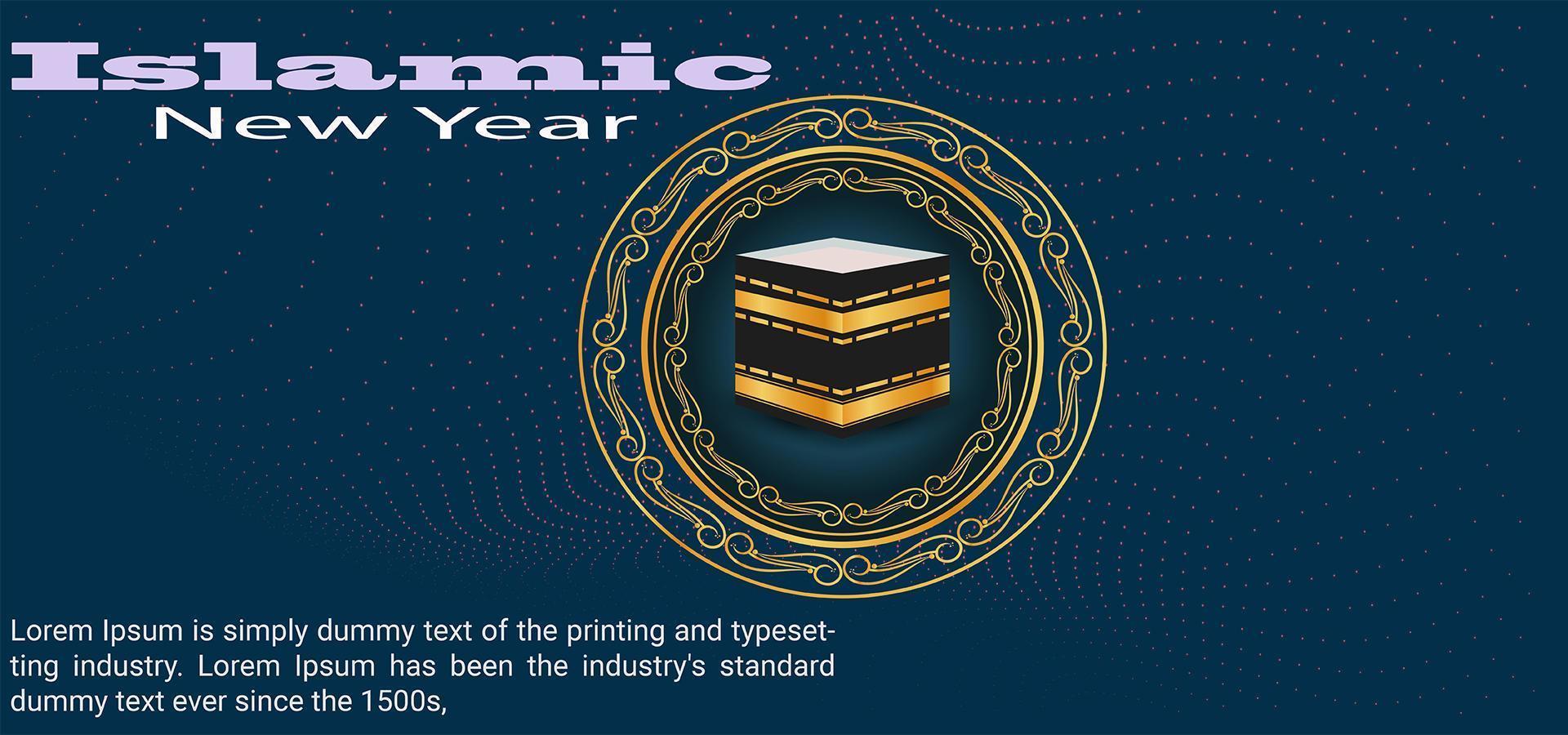 banner de festival ornamentado do ano novo islâmico vetor