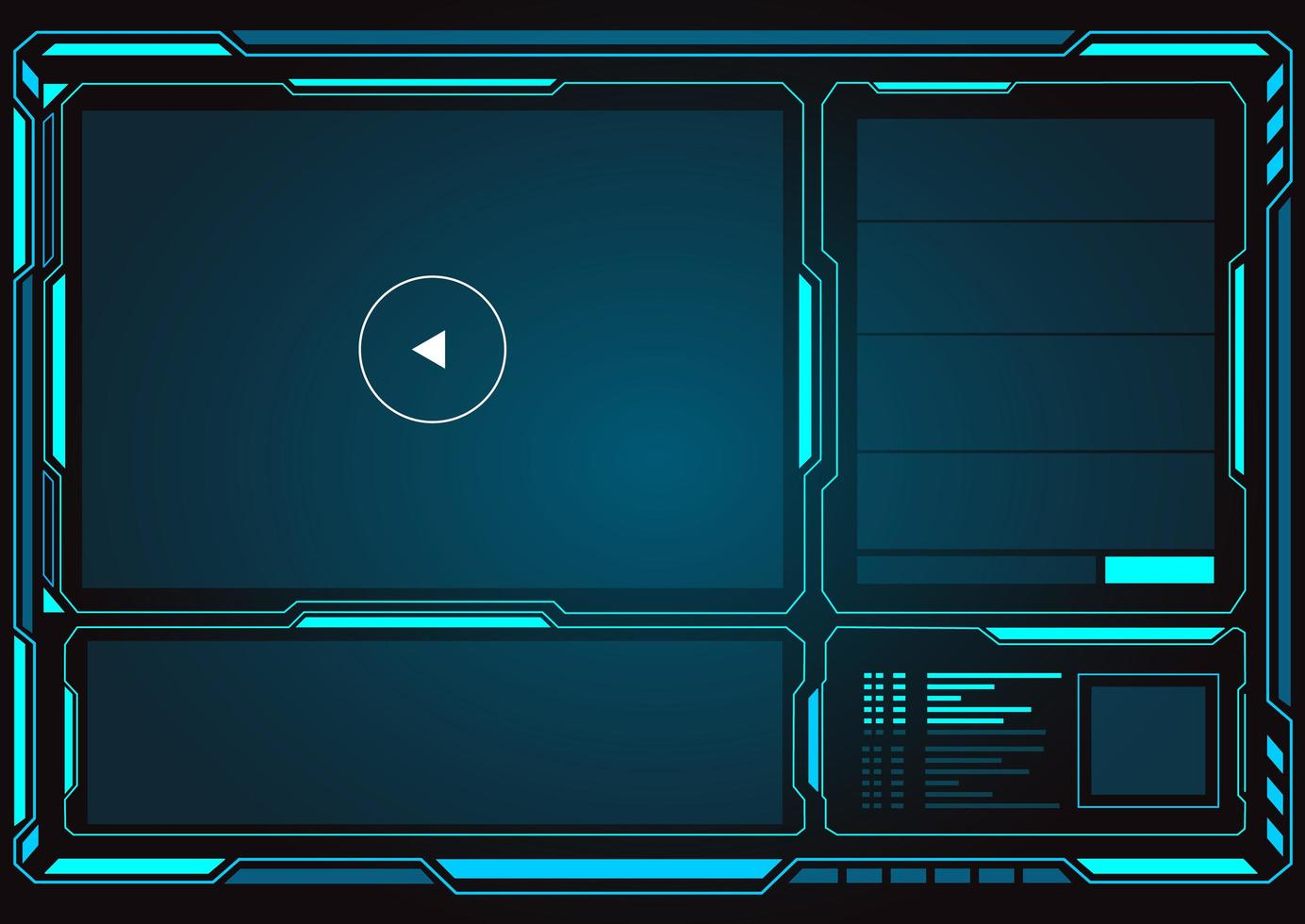 interface de interface com o player de vídeo vetor