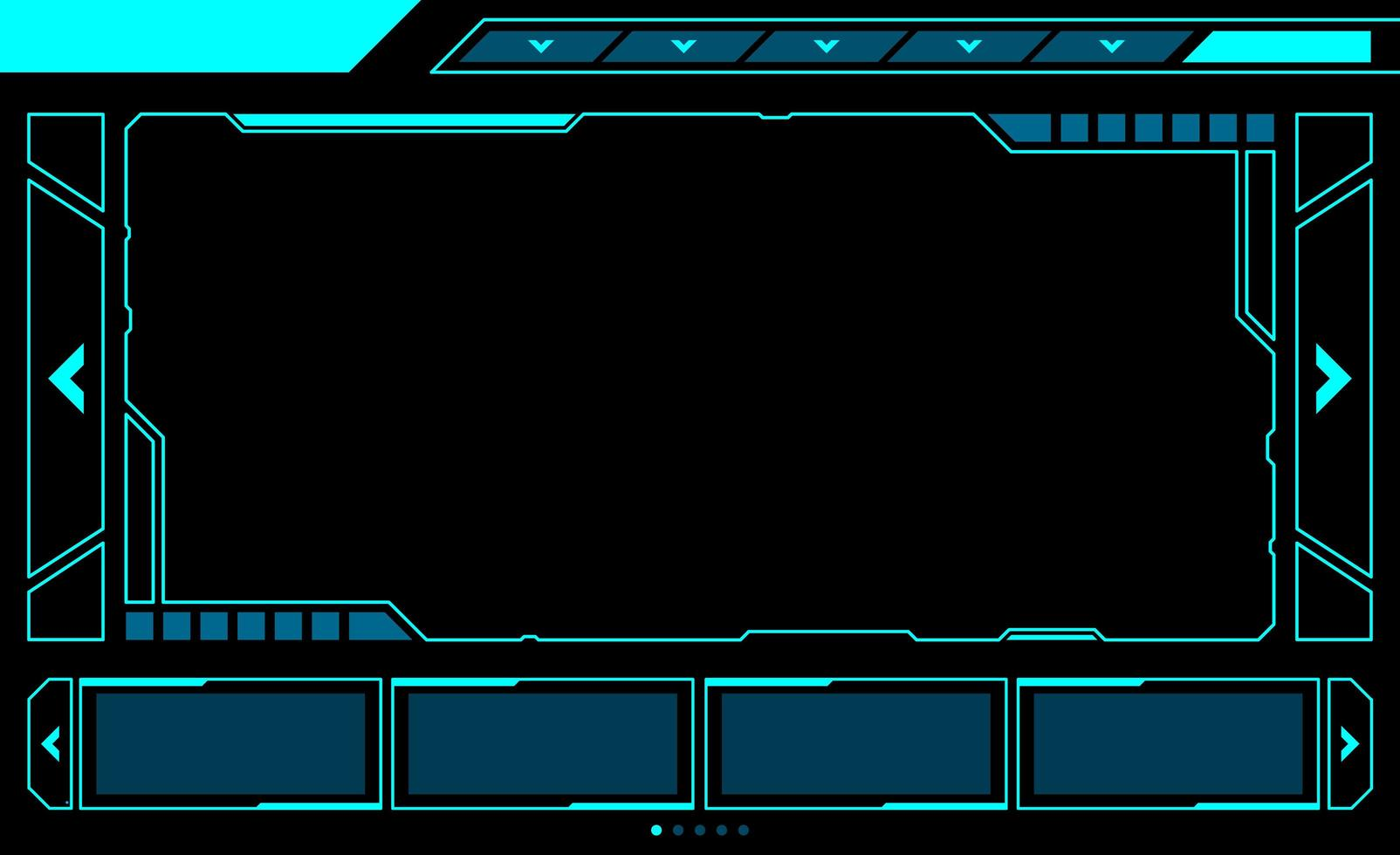 interface de hud de janela retangular grande vetor