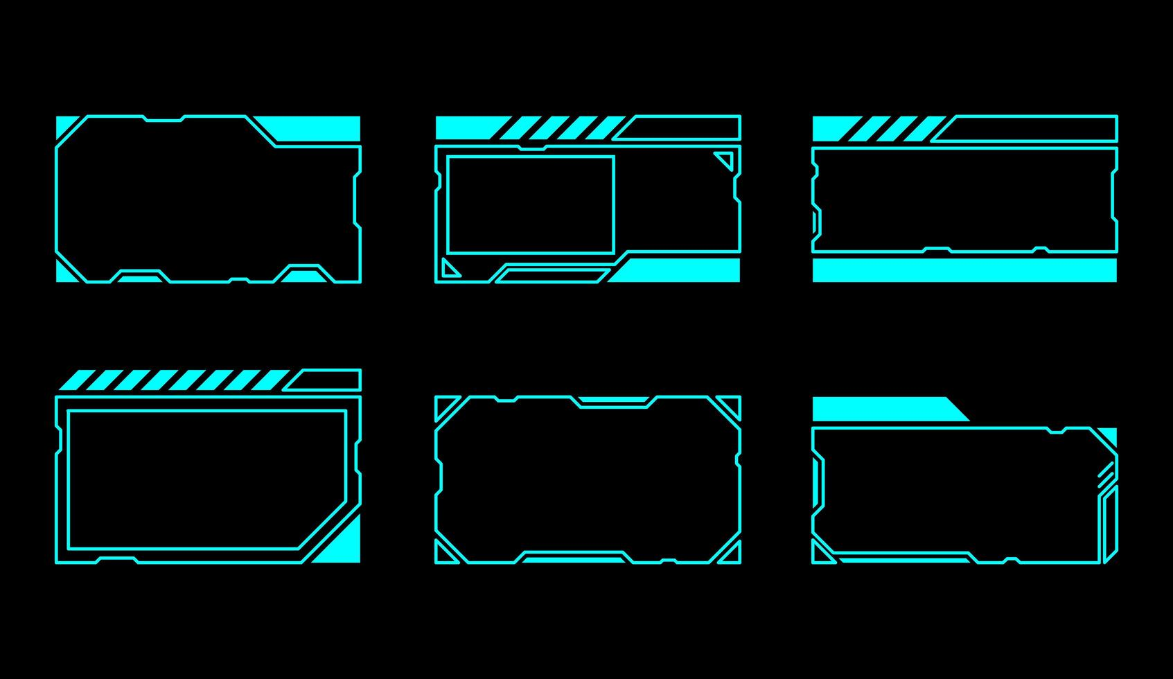 conjunto de janelas de interface retangular vetor