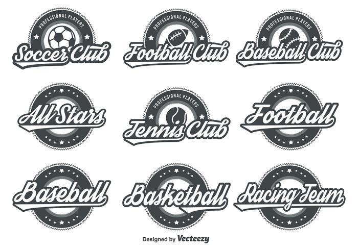 emblemas de esporte retrô vetor