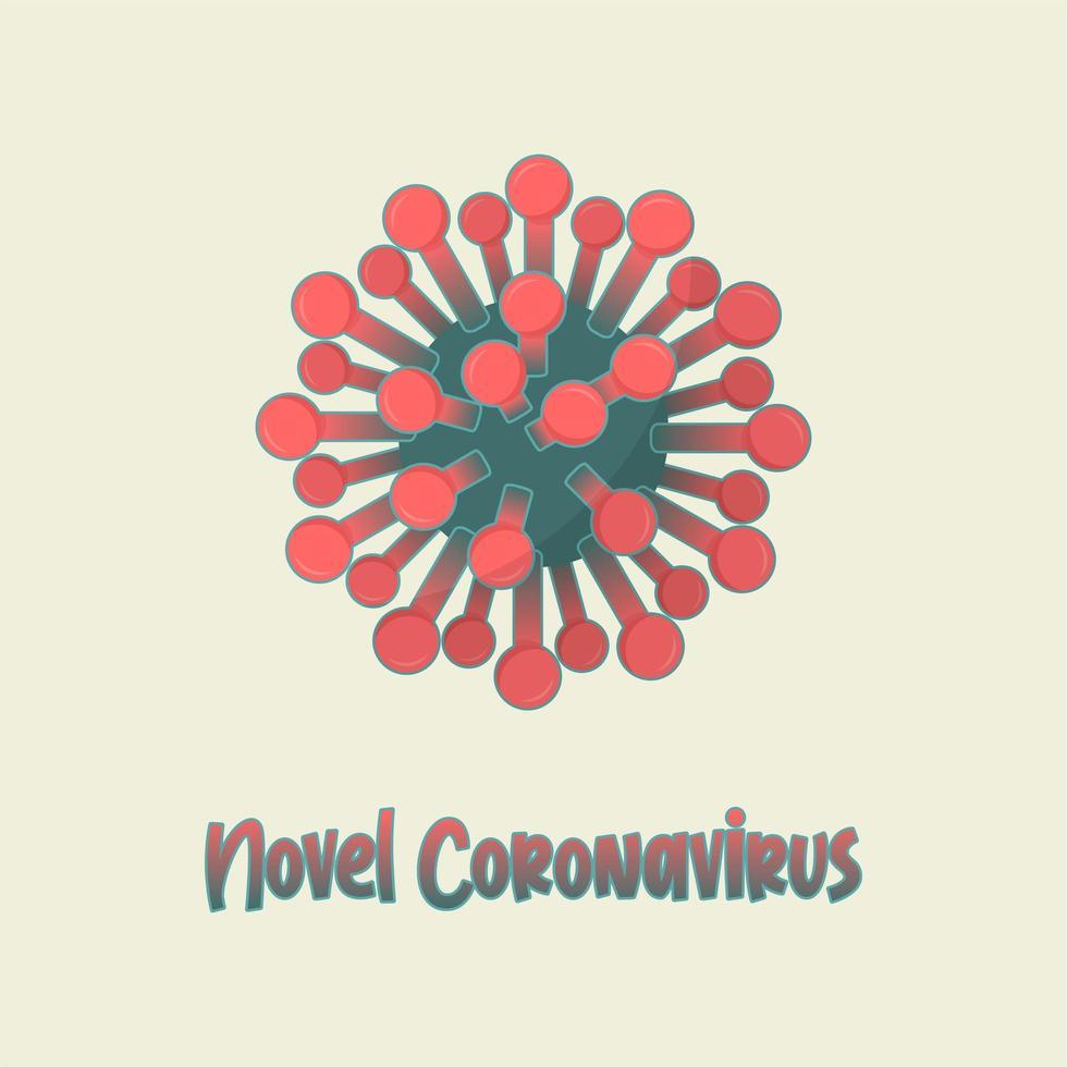 ilustração de bactéria coronavirus covid-19 vetor