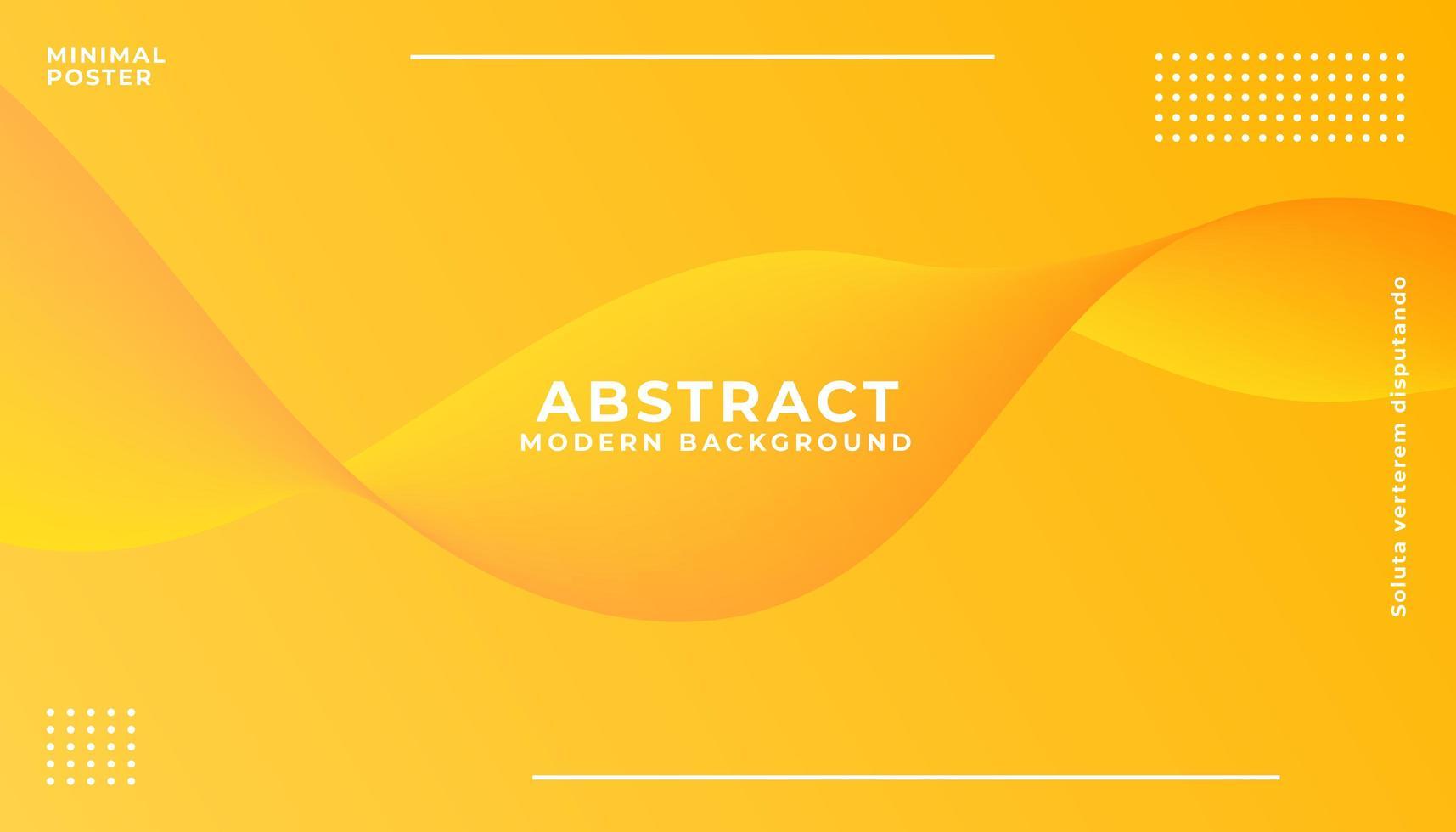 fundo abstrato onda amarela e laranja vetor