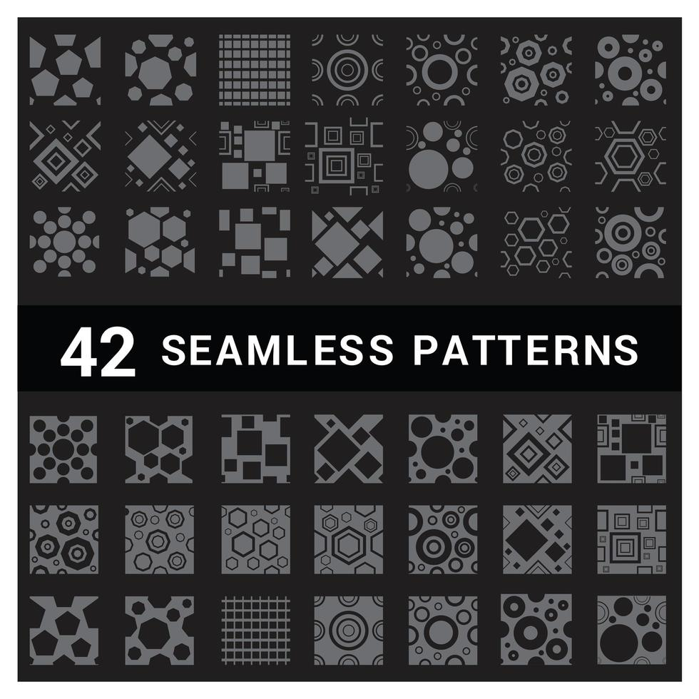 conjunto de 42 padrões geométricos sem emenda vetor