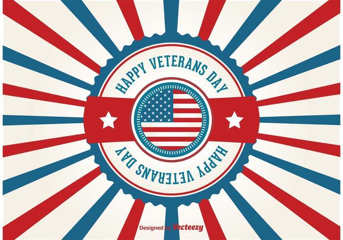Cartaz retro do dia de veteranos vetor