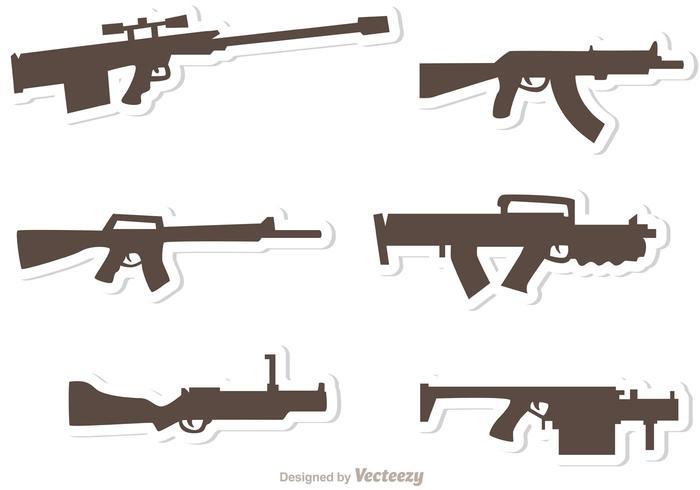 Conjunto de vetores conjunto de armas 2