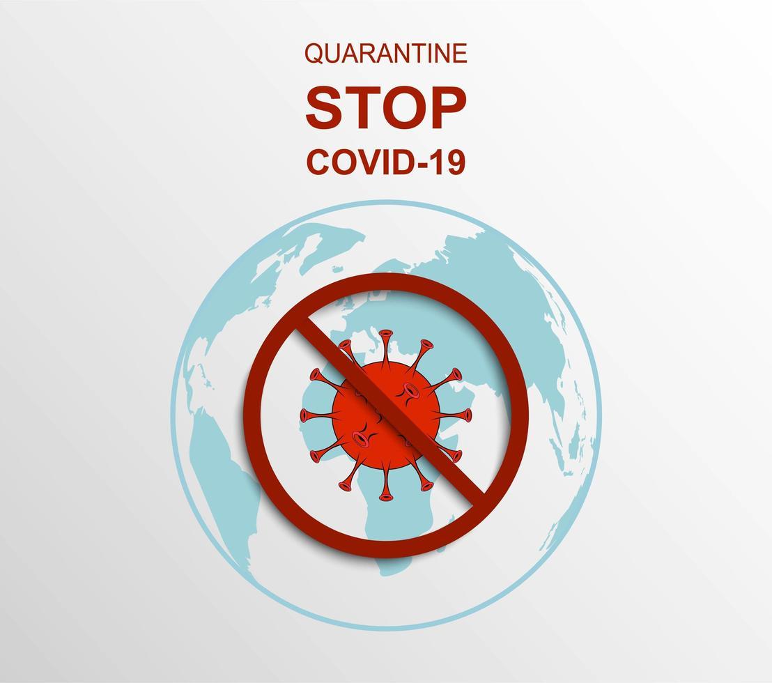assinar para quarentena e parar o vírus covid-19 vetor