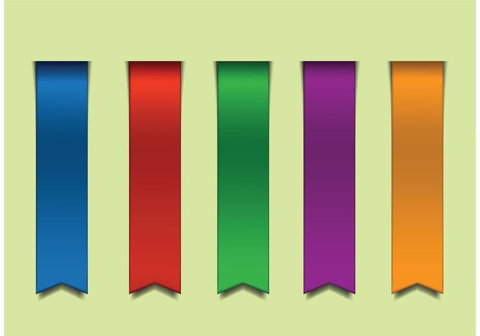 Fitas coloridas de vetores coloridos