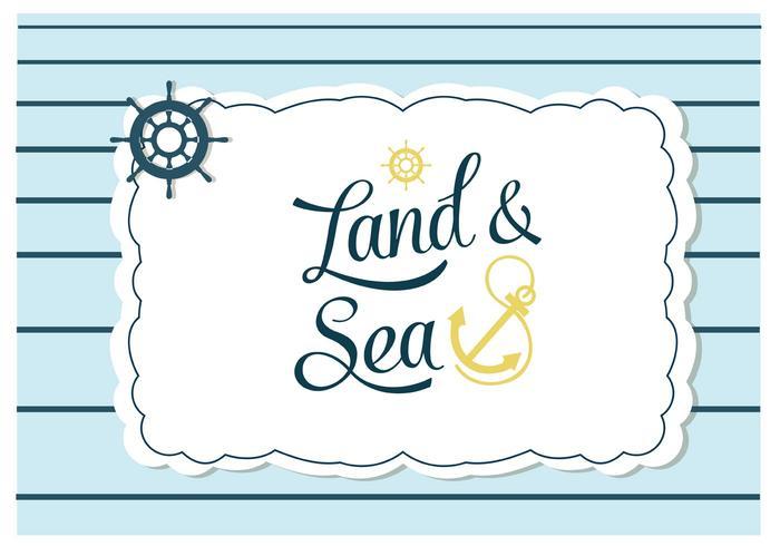 Vector livre de terra e fundo do mar