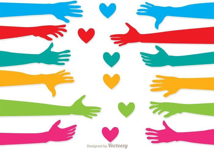 Pacote de vetores Love Help Hand