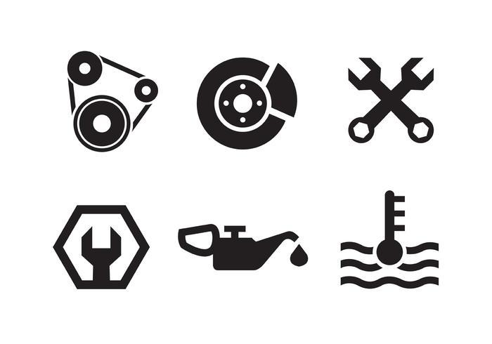 Coleção do ícone do motor Piston vetor