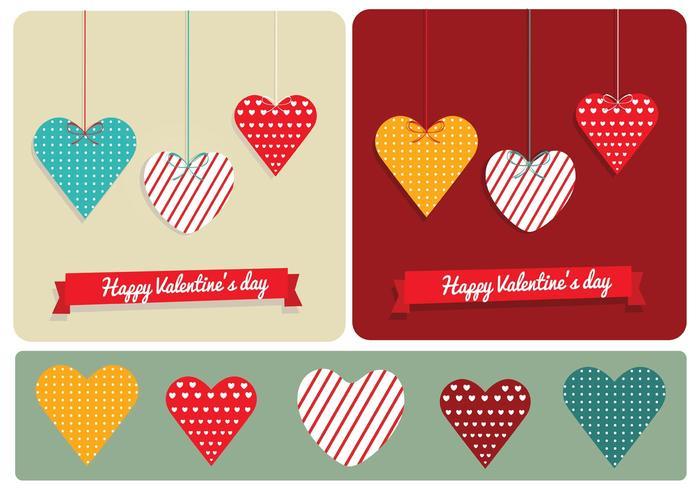 Corações modelados para o Dia dos Namorados vetor