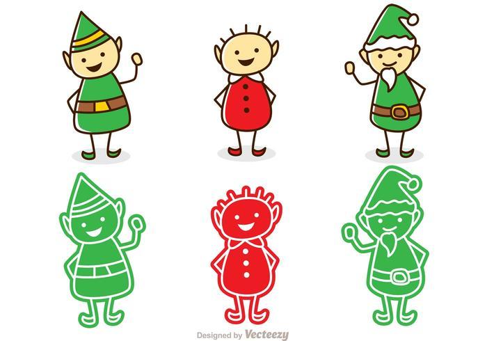 Pacote de Natal Santas Elves vetor