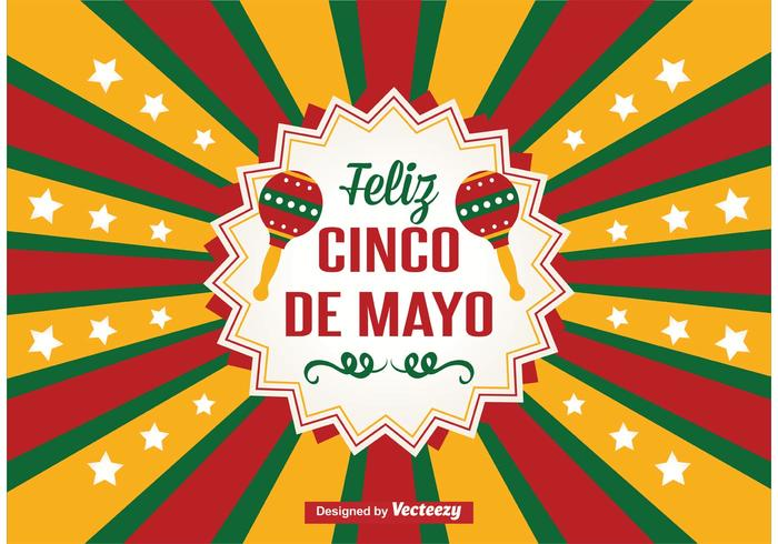 Cartão Cinco de Mayo vetor
