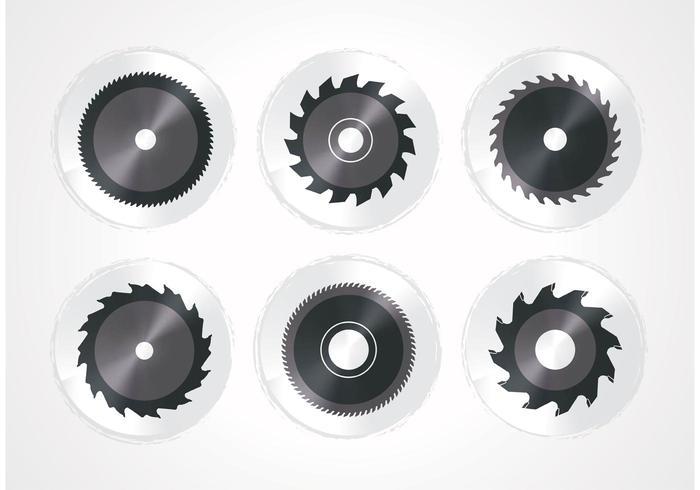 Conjunto de lâmina de serra circular vetor