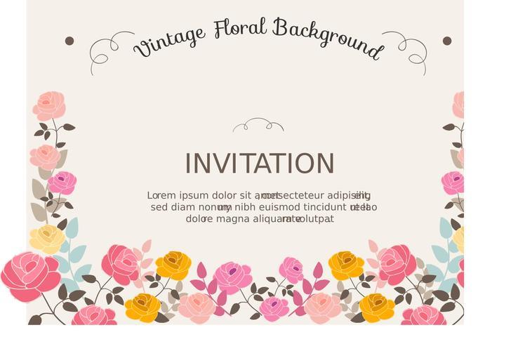 Fundo de convite floral vetor