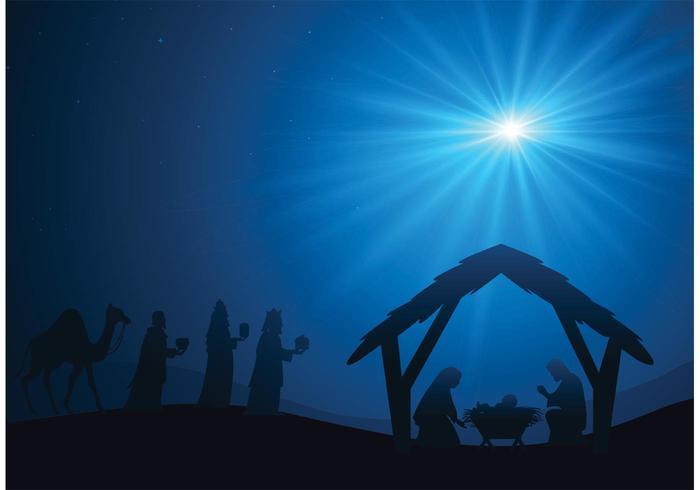 Free manger scene vector background