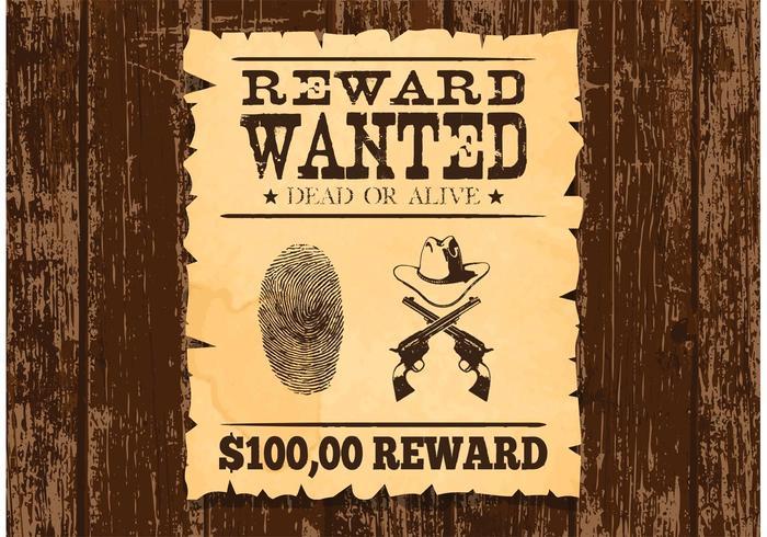 Vetor de cartaz velho procurado gratuitamente