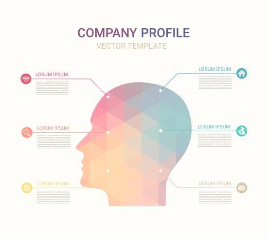 Modelo de perfil gratuito da empresa de vetores