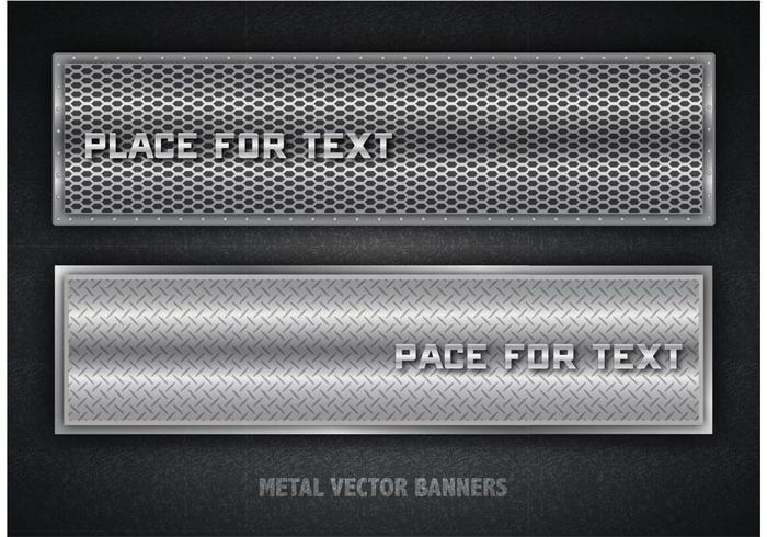 Banners de metal vetoriais gratuitos vetor