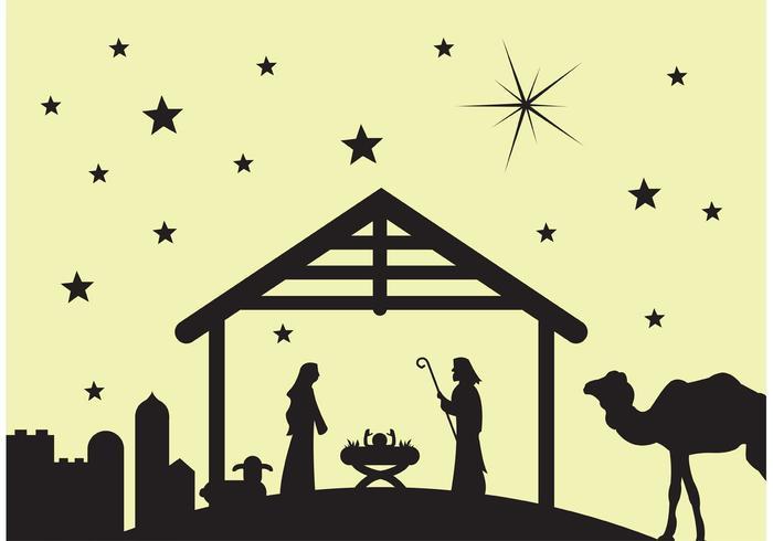 Cena de manger / cena de natividade vetor