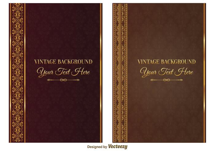 Capas de livros vintage vetor