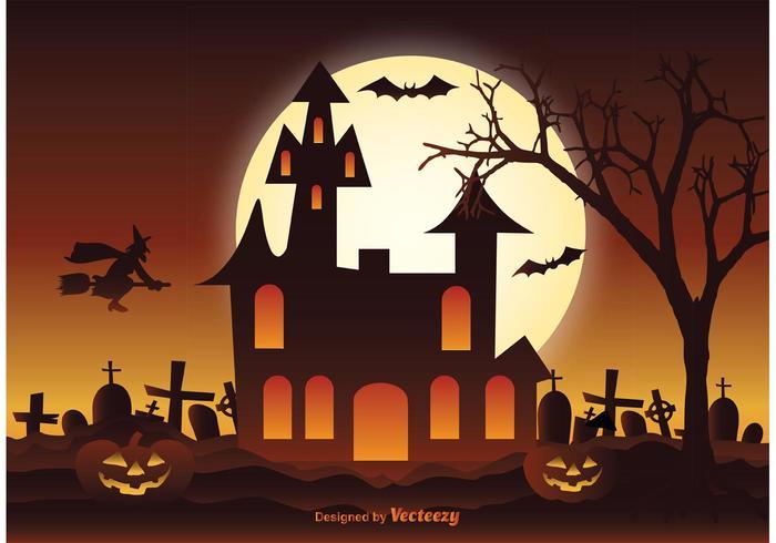 Ilustração de Halloween vetor
