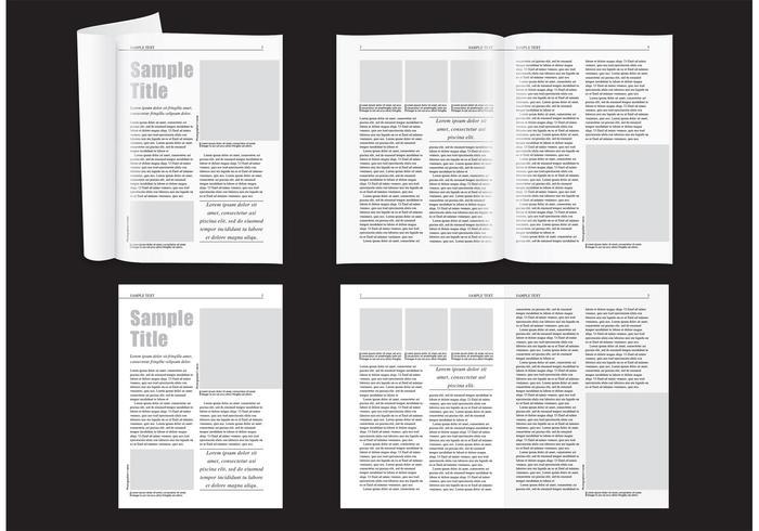 Layout Minimal Magazine vetor