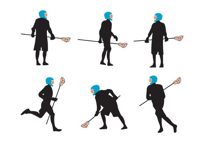 Jogadores de Lacrosse vetor