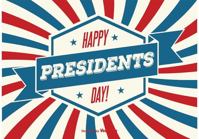 Ilustração do dia dos presidentes vetor