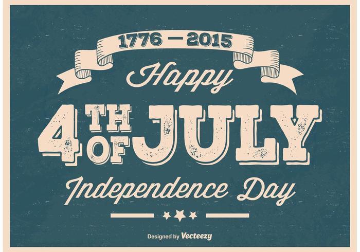 Cartaz velho do Dia da Independência do vintage vetor