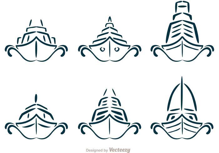 Vetores simétricos de navio de cruzeiro