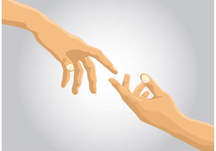 Alcance o vetor da mão