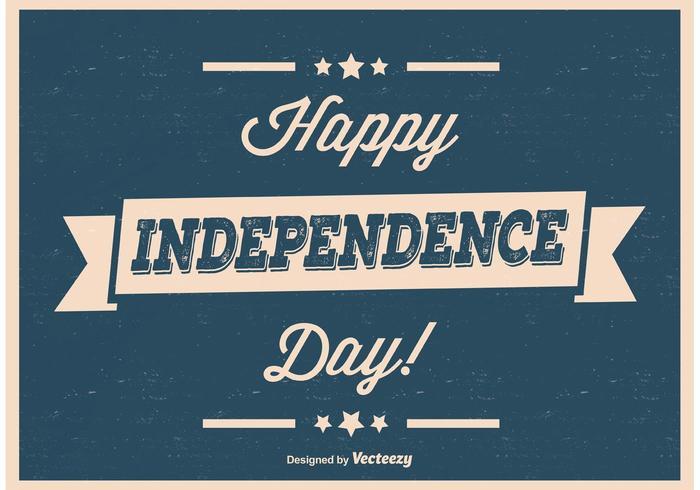 Poster retro do Dia da Independência do vintage vetor