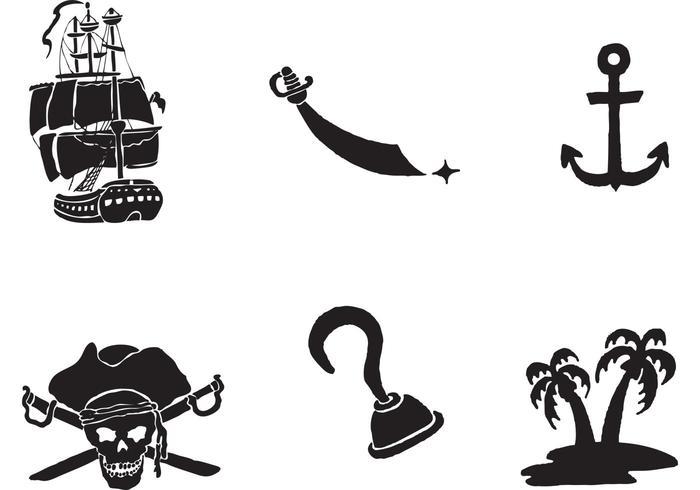 Vector de navio pirata grátis