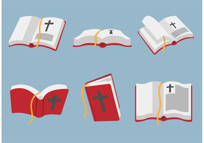 Arte vetorial aberta da Bíblia vetor