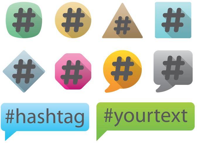 Vetores de Hashtag