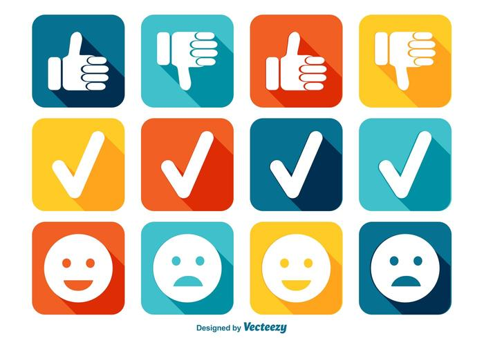Conjunto de ícones de Like e Dislike vetor