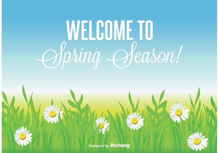 Belo fundo da primavera vetor