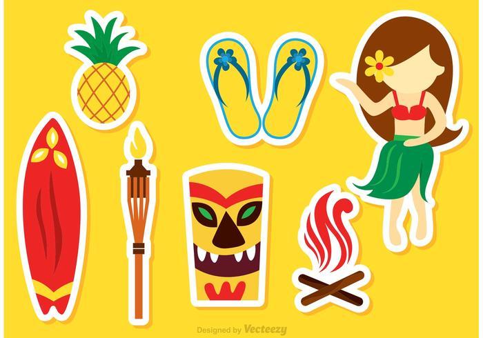 Vetores de ícones hawaianos