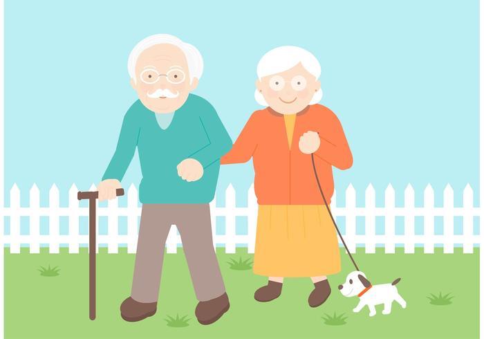 Ilustração vetorial gratuita de Senior Couple vetor