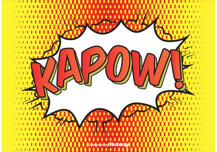 Comic Style Kapow! Ilustração de fundo vetor
