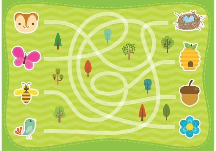 Vector de Labirinto Florestal