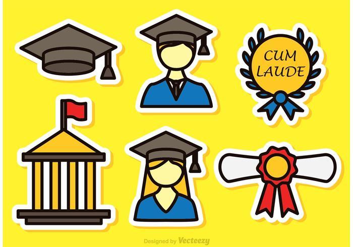 Ícones coloridos de vetores graduados