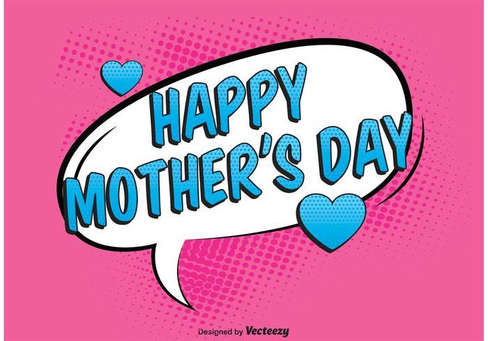 Ilustração do Comic Mother's Day vetor